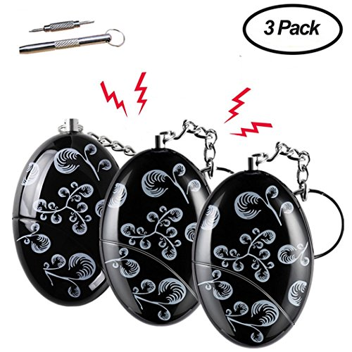 Safe Sound Personal Alarms 3 Pack 140db Security Alarm Keychain For Elderly, Women, Students, Kids Emergency Siren Song Alarm
