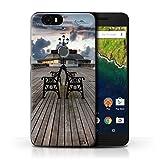 Stuff4 Hülle/Case für Huawei Nexus 6P / Pavillon Theater Muster/Englische Strand Kollektion