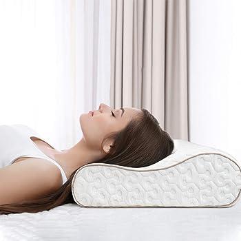 Almohadas de cuello Vbva alivio del dolor almohadas de rebote lento almohada de espuma viscoel/ástica x almohadas de cero presi/ón para el cuello tela de seda de hielo