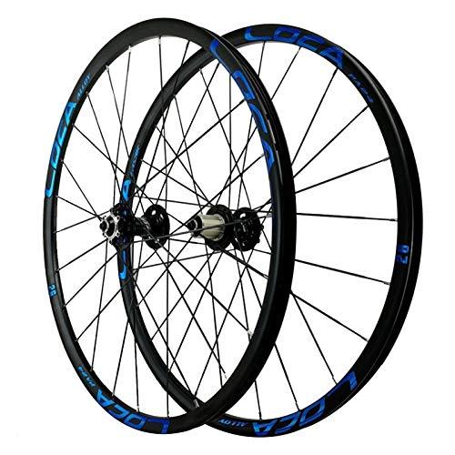 ZNND Ciclismo Wheels,Llanta De Bicicleta Montaña De Dos Pisos 26/27,5'' Aleación De Aluminio 24 Hoyos Liberación Rápida 8/9/10/11/12 Velocidad (Color : Blue, Size : 27.5in)