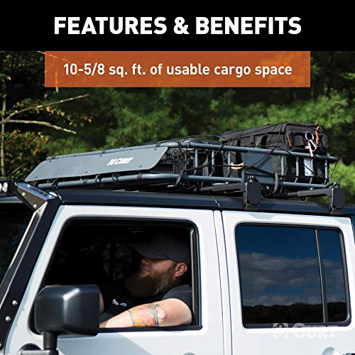 CURT 18115 Roof Rack Rooftop Cargo Carrier 41-1/2 x 37 x 4 Mounted