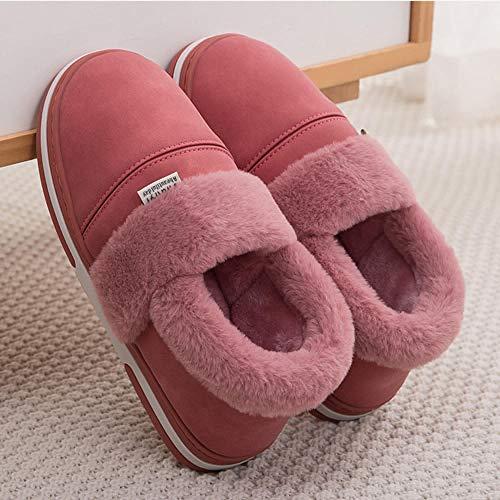 Zapatillas Casa Hombre Mujer Invierno Zapatillas De Mujer, Zapatillas De Plataforma para Mujer, Zapatillas De Felpa Impermeables, Zapatillas Cálidas para El Hogar, Zapatos De Mujer Suaves Y Cómod