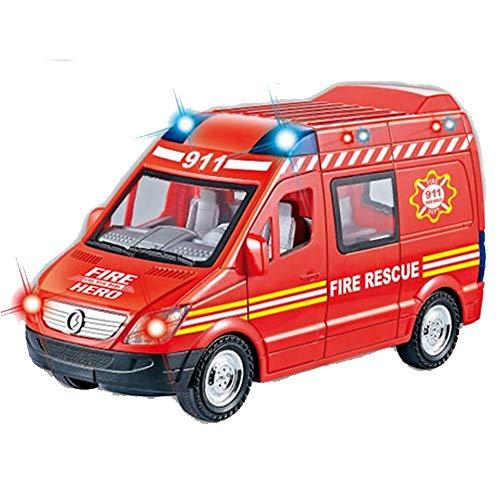 Brandweerauto met geluid en licht.