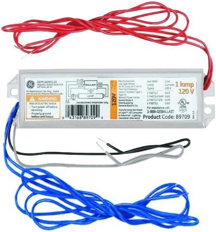GE Lighting 72110 GE140RS120-DIY LFL ProLine Electronic Rapid Start Ballast  for 1 F40 or F34T12 - Electrical Ballasts - Amazon.com   Ge F40t12 Ballast Wiring Diagram      Amazon