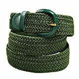 Eurosport Unisex trenzado elástico Stretch Cinturón - Verde -
