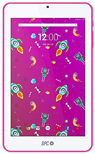 SPC Flow - Tableta de 7' (Quad Core Cortex A53 1.3 GHz, Memoria Interna 8 GB, 1 GB de RAM, HD, Android 7.0) Rosa