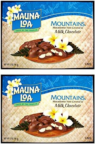 Multi Pack Mauna Loa Mountains Chocolate Covered Macadamia Nuts 2 5oz boxes 2 Boxes 30 pieces product image