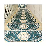 LIYUHOUZUONC Tappeti per Scale Tappeto per Scale Autoadesivo Alta Densità Design Jacquard Unico Set di 10 Stuoie/Tappeti per Scale Non Scivolare Floor Protector Lavabile 65x24cm (Color : #1)