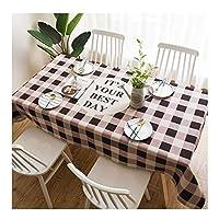 テーブルクロス 綿とリネンのテーブルクロス、防油防水長方形のテーブルクロス、縮みにくい、退色しにくい、4色、9色 (Color : D, Size : 110*170cm)