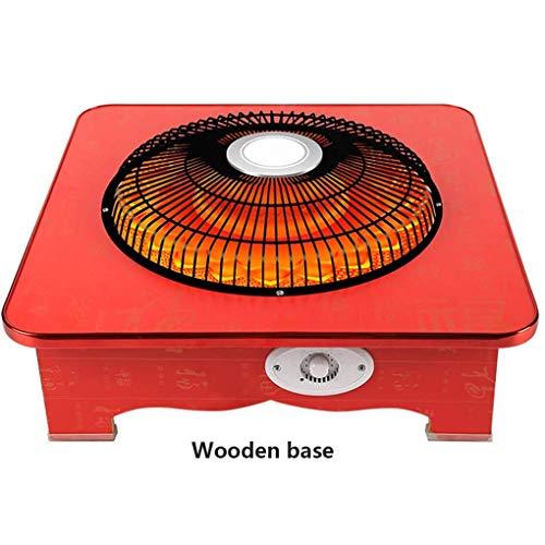 XHHWZB Fibra carbono calentador eléctrico jaula pájaro