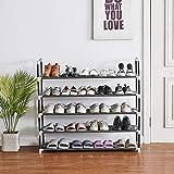 Shoe Rack, 25 Pairs, 5 Tiers Shoe Organizer, Shoe Racks for Closets, Shoe Organizer for Closet, Closet Shoe Organizer, Shoe Rack Organizer, Shoe Rack 25 Pairs, Tall Shoe Rack, 38'Lx12'Wx35'H