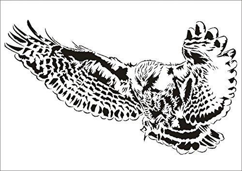 UMR-Design W-645 Owl Wand / Textilschablone Grösse A3