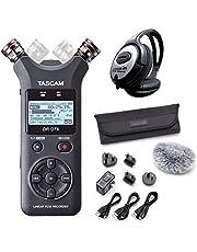 Tascam DR-07X - Grabadora de audio estéreo + juego de accesorios AK-DR11GMK2 + auriculares Keepdrum