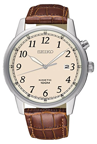 Seiko Kinetic Cream Dial Men's Watch SKA779