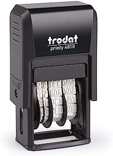 Trodat Petit tampon dateur Printy 4810 - Date en Français - Encrage automatique Noire rechargeable - Format de l'impressio...
