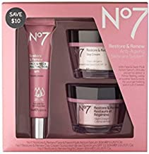 No7 Restore & Renew Face & Neck Multi Action Skincare System , pack of 1