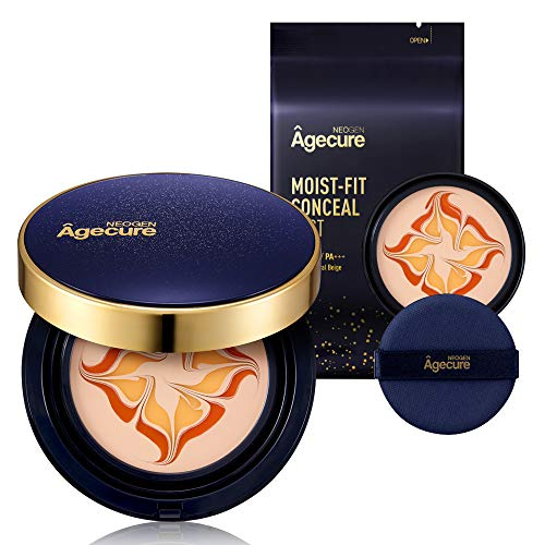 NEOGEN Agecure I REFILL GIFT SET I SPF50, PA+++ I 99.5% Pure Gold Moist-Fit Essence Cover Foundation Pact #23 Natural Beige 0.94 oz