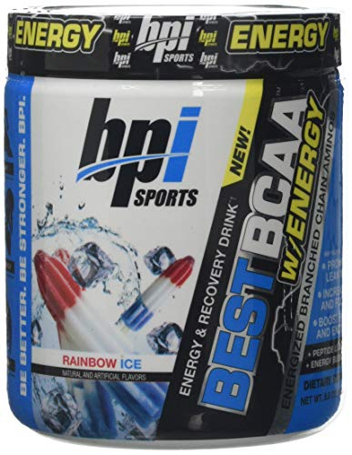 BPI Sports Best BCAA with Energy, Rainbow Ice, 300 g