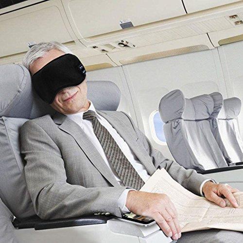 アイマスク 安眠 遮光 Bluetooth立体型マスク 圧迫感なし 仮眠快眠安眠グッズ 音楽機能 ステレオ再生 睡眠アイマスク 昼寝 新幹線 飛行機 旅行に最適 (ブラック)