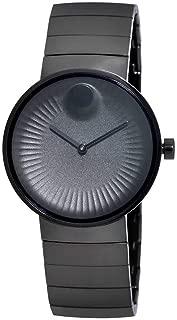 Movado Edge Black Aluminum Dial Swiss Quartz Mens Watch 3680007