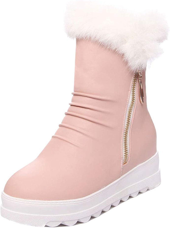Unm Women's Comfort Wedge Heel Snow Boots
