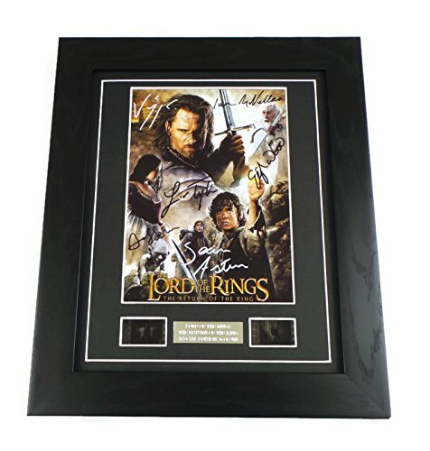 Lord of the Rings Signed + Lord of the Rings Return of the King Film Cell Framed by artcandi