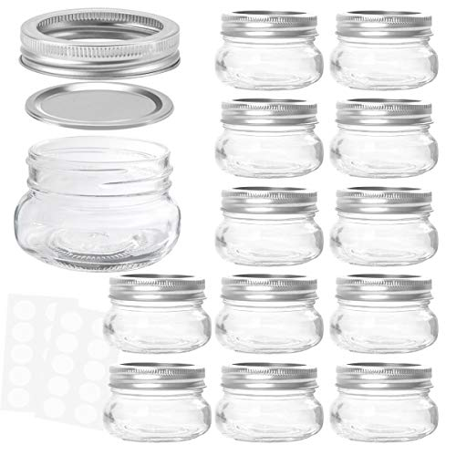 KAMOTA Mason Jars 4 oz With Regular Lids and Bands