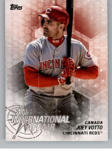 2018 Topps Update and Highlights Baseball Series An International Affair #IA-4 Joey Votto Cincinnati Reds Official MLB Trading Card