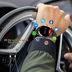 Blackview X1 Smartwatch, Relojes Inteligentes Hombre - Reloj Digital Caloría, Reloj Deportivo Hombre Pulsometro, Pulsera Actividad Inteligente, Reloj Inteligente Mujer para Android e iOS (2 Correas)