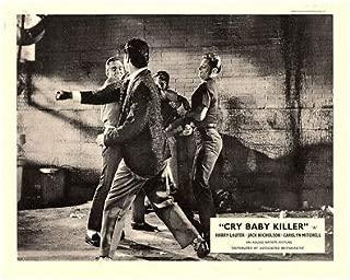 CRY Baby Killer Original Lobby Card Brett Halsey Fight Scene 1958
