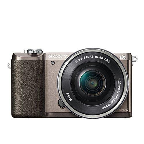 Sony Alpha 5100 Systeemcamera (180 graden draaibaar, 7,6 cm (3 inch) LCD-display, 24,3 megapixel, Exmor APS-C sensor, Full HD video) met ultrasnelle hybride AF, incl. SEL-P1650, bruin