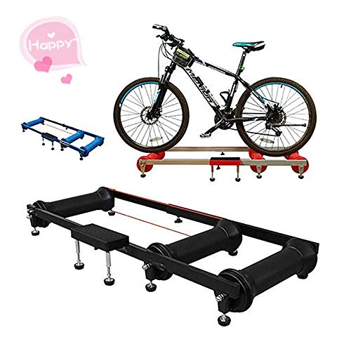 Cigkany-SP Bike Trainer Stand Bicycle Roller Riding Platform Indoor Exercise Platform Road Bike Roller Training Table Spinning Bicycles (Color : Blue, Size : One Size)