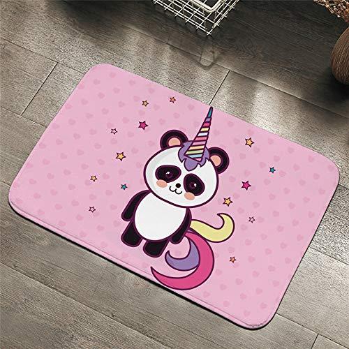Alfraza para exteriores al aire libre Panda manta de área de antideslizante de dibujos animados Juego estera del piso de alfombra animal unicornio Felpudo exterior 40x60cm Decoración Mat A prueba de l