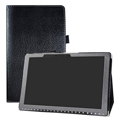 LFDZ Acer Iconia One 10 B3-A50 Hülle, Schutzhülle mit Hochwertiges PU Leder Tasche Case für 10.1