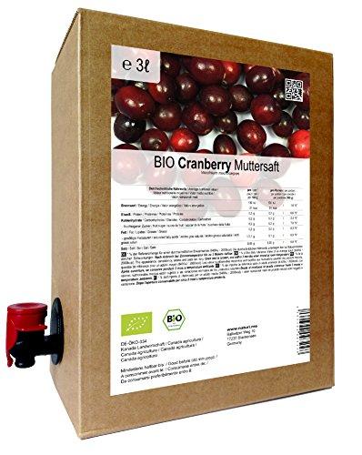 BIO Cranberry Muttersaft - 100% Direktsaft (3 Liter)