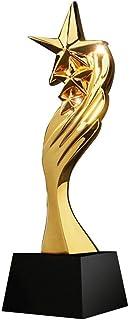Trofee Hars Trofee High-end Creatieve Metalen Trofee Vijfpuntige Ster Trofee Vergulde Kristallen Trofee Maatwerk (Color : ...