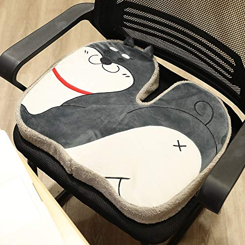 Nbvcxz Blankly house winter plush car seat cushion office student sitting cushion Nice Bottom pad memory foam cartoon (Color : 2, Size : 38 * 48cm)