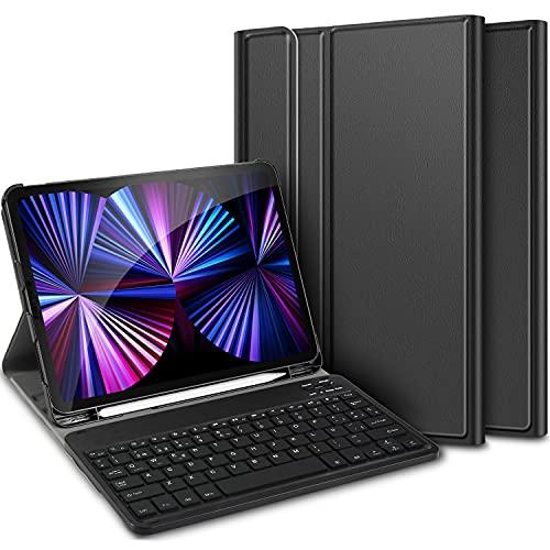 ELTD Funda con Teclado Español Ñ para iPad Pro 11 2021, Desmontable Light Teclado Inalámbrico Portátil para iPad Pro 11 2021/2020