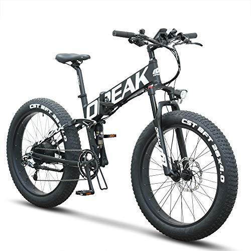 Opeak Ebike Foldable Electric Bike 750W High Speed Motor,12AH Removable 48V Ebike Battery,8...
