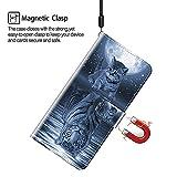 Cherfucome Case for Blackview A80 Phone Case Blackview A80 Wallet Case,Magnetic Flip Leather Case For Blackview A80 Phone Cover [B03*Cat Tiger]