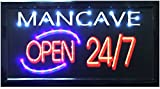 """Crystal Art Times 10""""x19"""" Man Cave LED Lighted Sign, 10"""" x 19"""""""