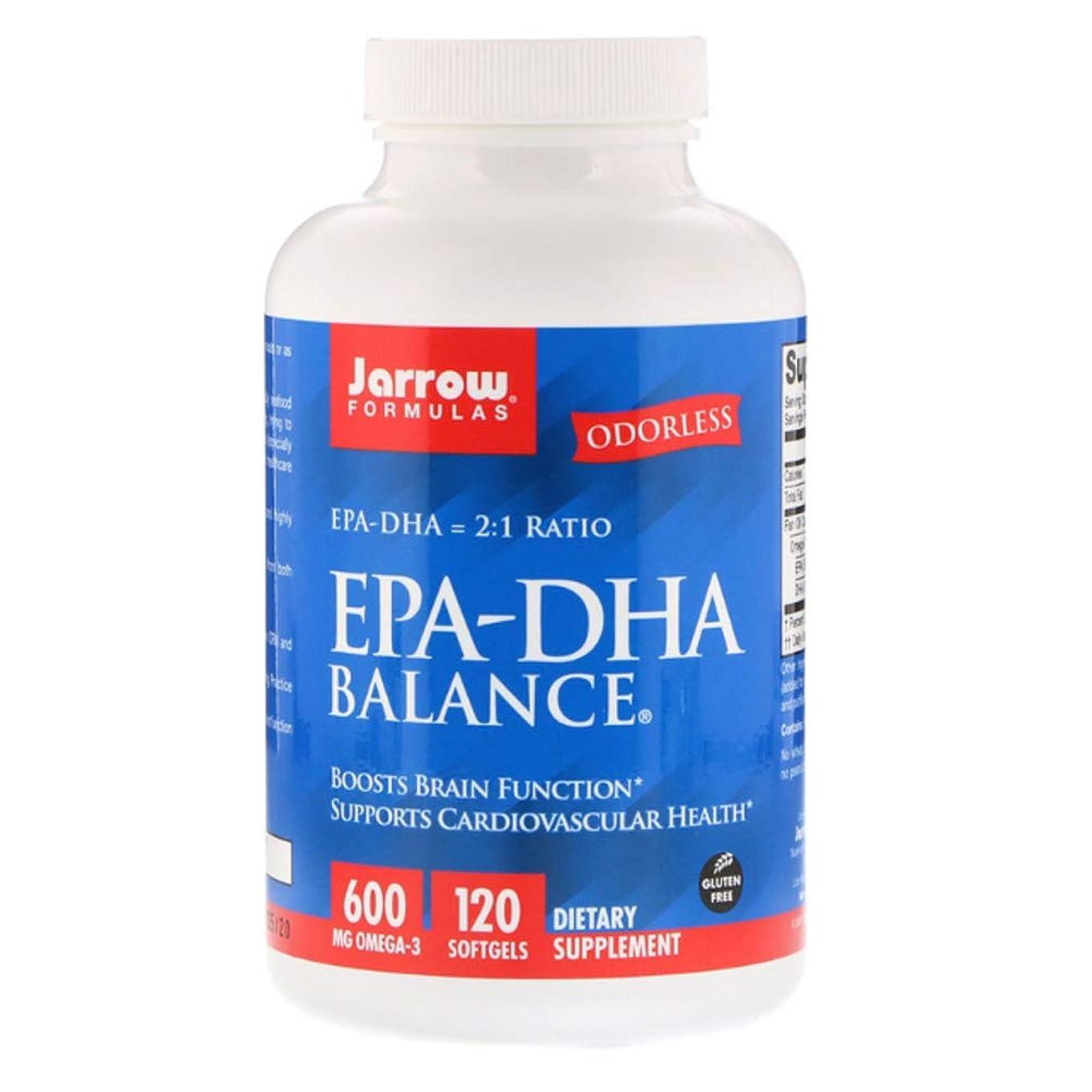 君主制先行する上げるJarrow Formulas EPA DHA Balance ソフトジェル 120粒 【アメリカ直送】
