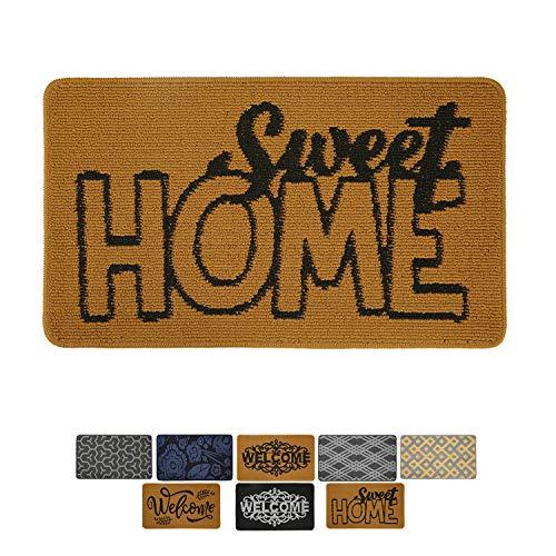 "MetaBall Felpudos Entrada casa, Antideslizante, súper Absorbente, tappeto esterno lavabile in lavatrice Doormat (17"" X 30"", Sweet Home)"