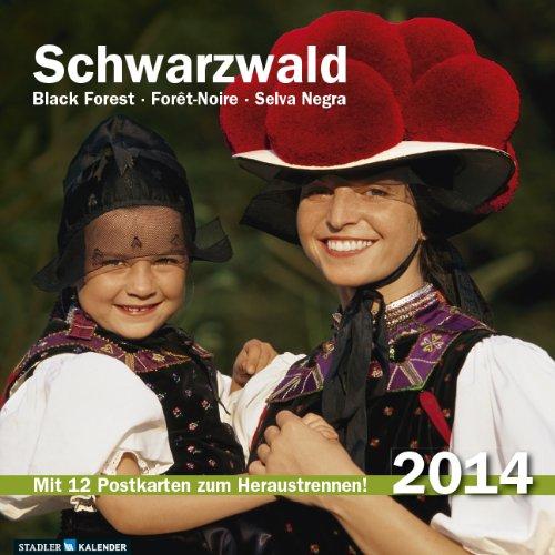 Schwarzwald Postkarten-Tischkalender 2014