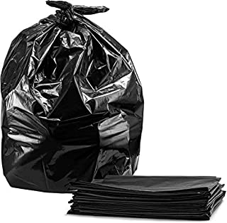 Contractor Bags 55-60 Gallon, 3.0 Mil, Large Heavy Duty Black Trash Bags, (32)