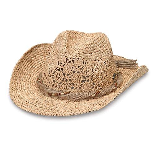 Wallaroo Hat Company Women's Tina Cowboy Hat – Raffia, Modern Cowboy, Designed in Australia, Natural