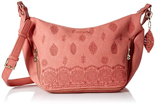 Desigual Paola Somalia Across Body Bag Rosa Plateado