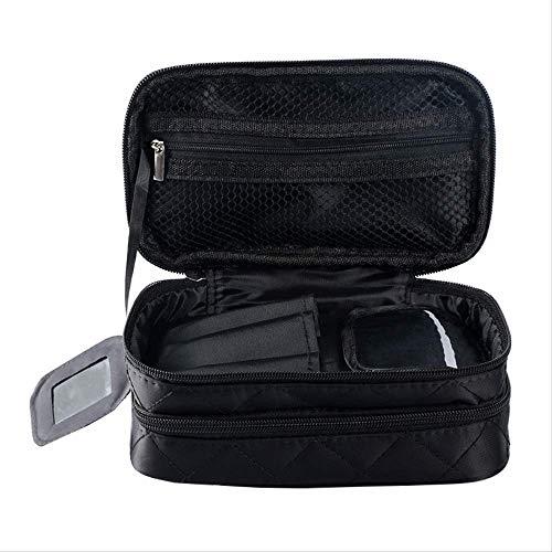 Étanche À Double Couche Sac Cosmétique Géométrique Rhombique Sac De Lavage en Nylon Sac De Rangement Portable Portable Cas Cosmétique