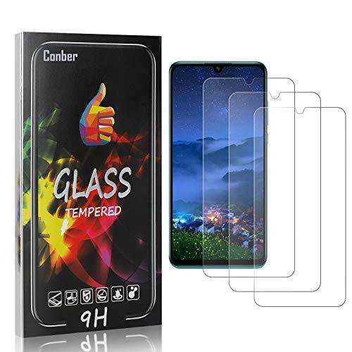 Conber [3 Stück] Displayschutzfolie kompatibel mit Huawei P30 Lite, Panzerglas Schutzfolie für Huawei P30 Lite [Hüllenfreundlich][9H Härte]