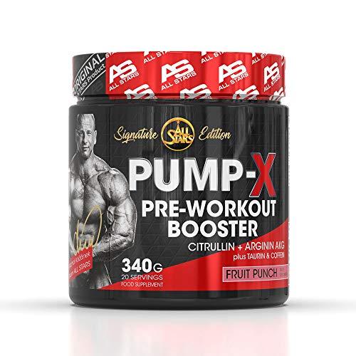 NEU: All Stars PUMP-X SIGNATURE PRE WORKOUT BOOSTER, 340 g Dose, Fruit Punch